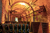 Champagne cellar, Maison de Champagne Vranken-Pommery, Reims, Champagne, France