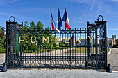 Entrance gate to the Pommery Champagne House, Reims, Champagne, France