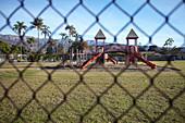 Playground in Carpinteria, Santa Barbara, California, USA.