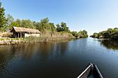 Danube Delta, boat trip between Lacul Merhei and Lacul Martita in April, Mila 23, Tulcea, Romania.