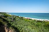 Beach on the Black Sea coast, Tuzla, Constanta, Romania.