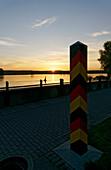 Oder, sunrise, Frankfurt / Oder, view to Poland, Land Brandenburg, Germany