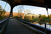 Bridge to the island of Ziegenwerder, Frankfurt / Oder, Land Brandenburg, Germany
