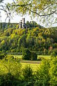 Neideck castle ruins, Wiesenttal, Franconia, Bavaria, Germany