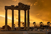 The Temple of Apollo in Side at sunset