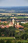 View of the old town of Iphofen, Rödelseer Tor, Kitzingen, Lower Franconia, Franconia, Bavaria, Germany, Europe