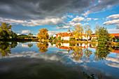 At the Karpfenweiher near Birklingen, Iphofen, Kitzingen, Lower Franconia, Franconia, Bavaria, Germany, Europe