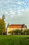 Das Schloss in Fröhstockheim, Rödelsee, Kitzingen, Unterfranken, Franken, Bayern, Deutschland, Europa