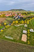 Leisure activities in Fröhstockheim, Rödelsee, Kitzingen, Lower Franconia, Franconia, Bavaria, Germany, Europe