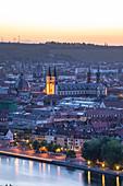 Blick vom Käppele auf die Würzburger Altstadt, Würzburg, Maintal, Unterfranken, Franken, Bayern, Deutschland, Europa