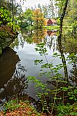 The Haferdeckfelsen near Friedenfels in the Steinwald Nature Park, Tirschenreuth, Upper Palatinate, Bavaria, Germany, Europe