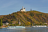 The Marksburg in Braubach, Unesco World Heritage Site Upper Middle Rhine Valley, Middle Rhine, Rhineland-Palatinate, Germany, Europe