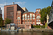 Houseboat trip on the Spree through Berlin, Germany, Europe