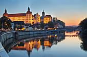 Castle and castle church in Neuburg an der Donau, Bavaria, Germany, Europe