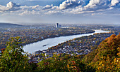 View of Bonn from the Drachenfels, Siebengebirge, Koenigswinter, Germany
