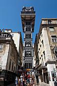 Elevador de Santa Justa elevator, Lisbon, Portugal, Europe