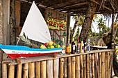 Beach bar, Praia da Cueira Beach, Boipeba Island, Bahia, Brazil, South America
