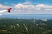 Anflug auf Manaus, Amazonas, Brasilien, Südamerika