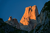 Picu Urriellu in the morning light, Naranjo de Bulnes, Picos de Europa, Picos de Europa National Park, Cantabrian Mountains, Asturias, Spain