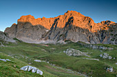 View of Pena Vieya in the morning light, Pena Vieja, Picos de Europa, Picos de Europa National Park, Cantabrian Mountains, Cantabria, Spain