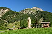 Kirche von Arvieux, an der Passstraße des Col d´Izoard, Cottische Alpen, Hautes-Alpes, Frankreich