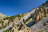Pass road Col d´Izoard with Casse Deserte, Col d´Izoard, Cottian Alps, Hautes-Alpes, France