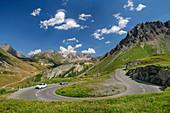 Passstraße des Col du Galibier, Col du Galibier, Hautes-Alpes, Savoie, Frankreich