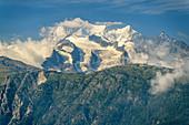 View of cathedral, von Blatten, Valais, UNESCO World Natural Heritage Jungfrau-Aletsch, Bernese Alps, Switzerland