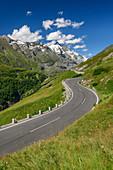 Glockner High Alpine Road leads to Grossglockner, Glockner Group, Hohe Tauern, Hohe Tauern National Park, Carinthia, Austria