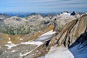 Stubacher Sonnblick and Granatspitze, from the Großer Muntanitz, Granatspitzgruppe, Hohe Tauern, Hohe Tauern National Park, East Tyrol, Austria
