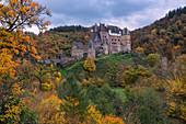 Eltz Castle in autumn, Rhineland-Palatinate, Germany