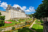 Das Château de l'Hermine in Vannes, Morbihan, Bretagne, Frankreich, Europa