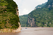 The Yangtze River at the Xiling Gorge (Three Gorges) in China.
