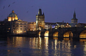 Prague at night in Prague, Czech Republic on March 2nd 2018\n\n\n\n\n
