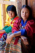 Backstage, Tshechu Festival at Wangdue Phodrang Dzong Wangdi Bhutan