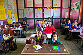 School, Ura Village, Ura Valley, Bumthang, Bhutan