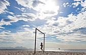 Jogger, Copacabana Beach, Copacabana, Rio de Janeiro, Brazil