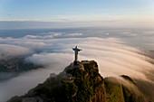 The Christ Redeemer statue on the Corcovado Mountain, Rio de Janeiro, Brazil