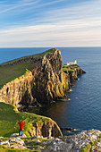 Lighthouse, Neist Point, Isle of Skye, Highland Region, Scotland, UK. Model Released.