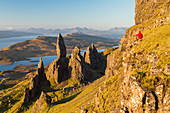 The Old Man of Storr, Trotternish, Isle of Skye, Scotland, UK. Model Released.
