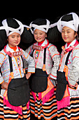 Girls of Long Horn Miao tribe, Sugao, Guizhou Province, China