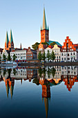 Old town and River Trave at Lubeck, Schleswig-Holstein, Germany