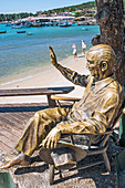 Juscelino Kubstchek (JK - ex President of Brazil) bronze statue at Armação's Beach in Buzios.\n\nArmação dos Búzios , often referred to as just Búzios, is a resort town and a municipality located in the state of Rio de Janeiro, Brazil. In 2012, its population consisted of 23,463 inhabitants and its area of 69 km². Today, Búzios is a popular getaway from the city and a worldwide tourist site, especially among Brazilians and Argentinians.\n\nIn the early 1900s Búzios was an almost unkown village of fishermen. It remained as such until 1964, when the French actress Brigitte Bardot visited Búzios, sin