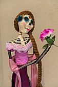 Skeleton is dressed up for the Day of the Dead (Dia de Muertos) in Oaxaca City, Mexico.