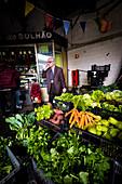 market stall, Mercado de Bolhao, Porto, Portugal, Europe