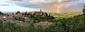 Rainbow over Montalcino, Tuscany, Italy