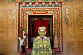 Masked dancer, Festival, Gangtey Dzong or monastery, Phobjikha Valley, Bhutan