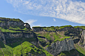 Imposing mountains and a view of the Gitschenen, near Isenthal, Switzerland
