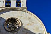 Bell tower of the Cathedral of Saint Jacob, Sibenik, Dalmatia, Croatia