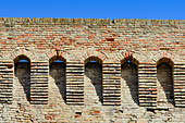 Partial view of the old city wall in Jesi, Ancona province, Italy
